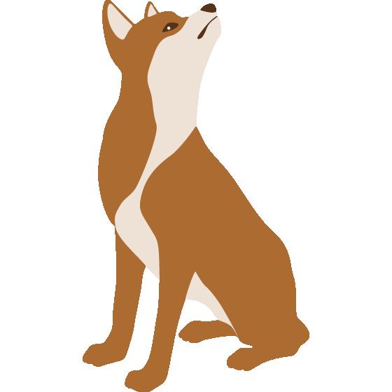 年賀状無料イラスト素材「犬(干支・戌)」