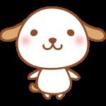 【2018年賀状無料イラスト】ゆるかわいい犬
